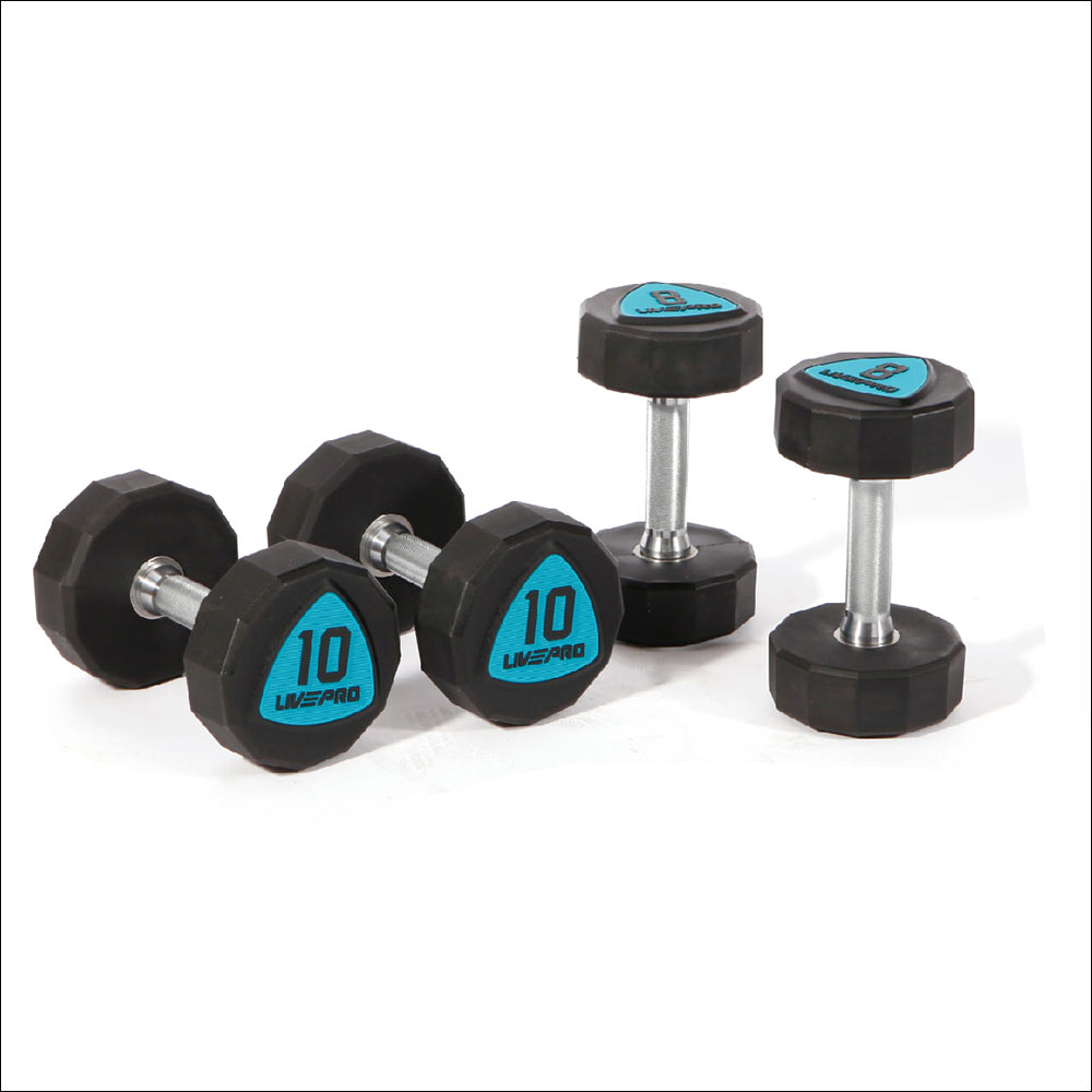 12-SIDED URETHANE DUMBBELLS
