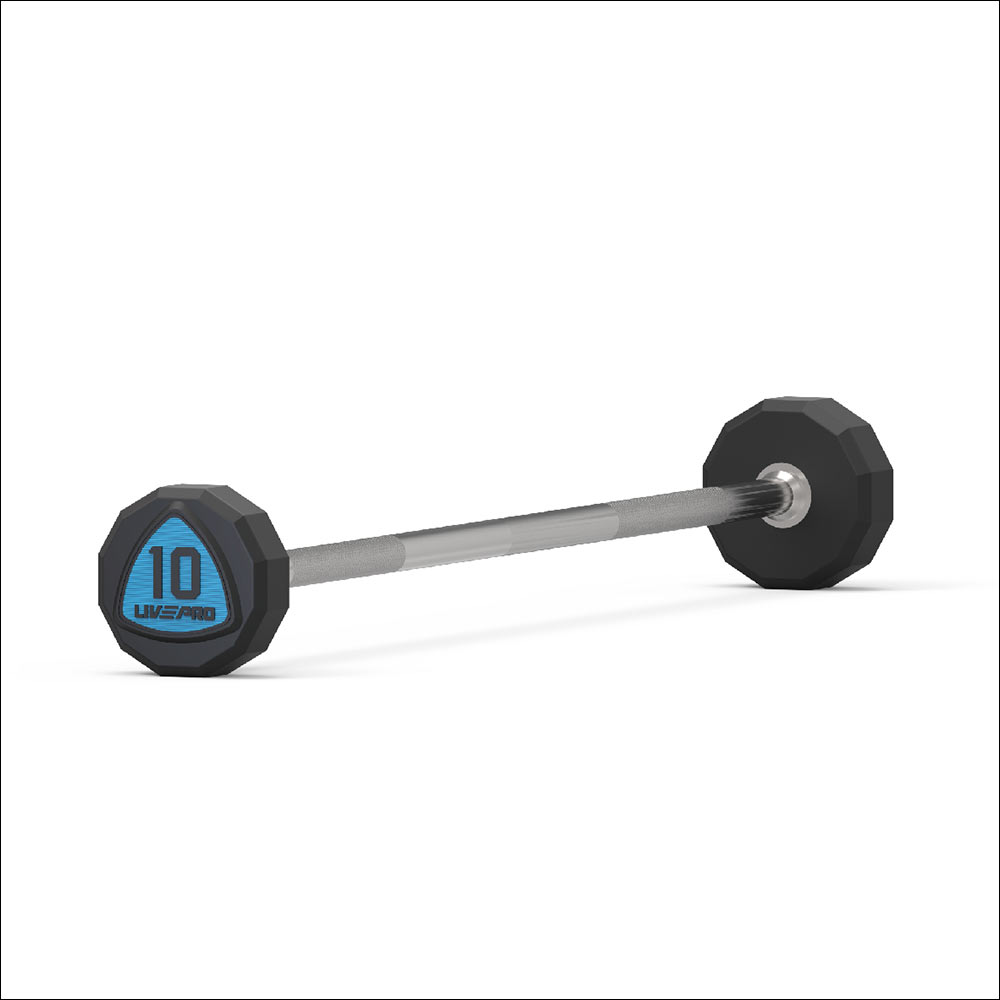 12-SIDED URETHANE BARBELLS