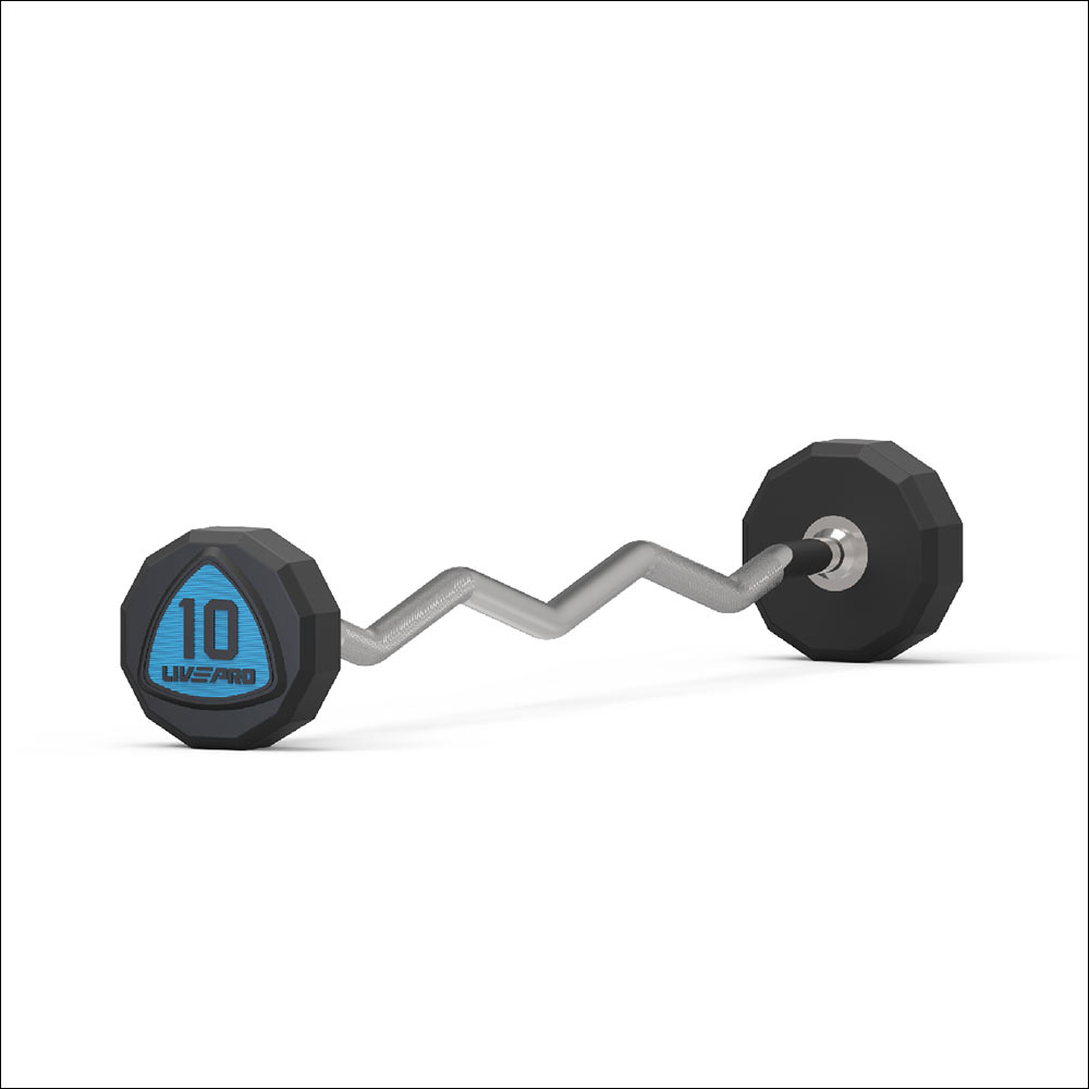12-SIDED EZ CURL URETHANE BARBELL