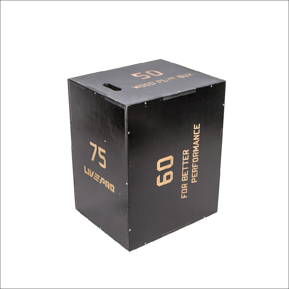 BLACK WOOD PLYO BOX